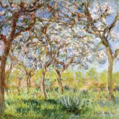 Southwest Living Rooms Room Color Schemes With Light Brown Leather Furniture 2 Claude Monet - Spring At Giverny Art Print Global Gallery