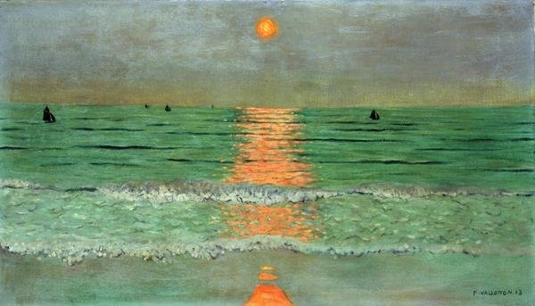 Felix Vallotton  Sunset Coucher De Soleil  Art Print  Global Gallery