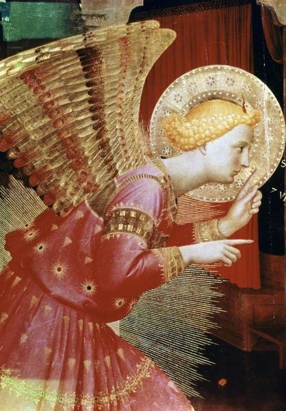 Fra Angelico  Angel of The Annunciation  Detail  Art Print  Global Gallery