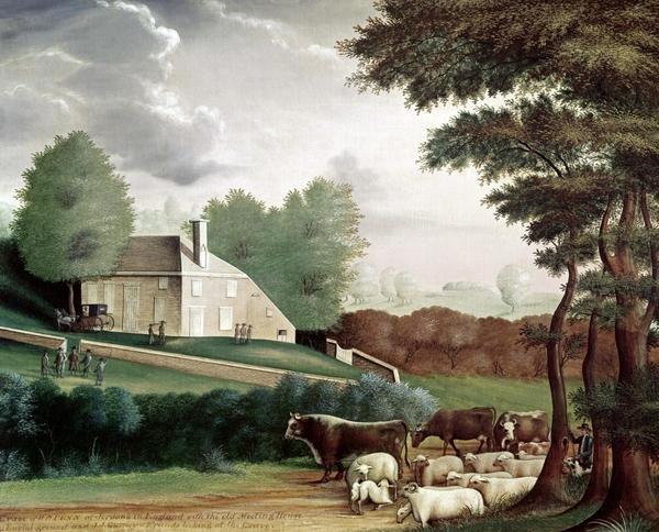 Edward Hicks Grave Of William Penn Art Print Global