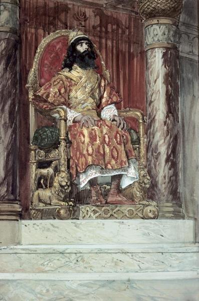James Tissot  Solomon Is Made King  Art Print  Global