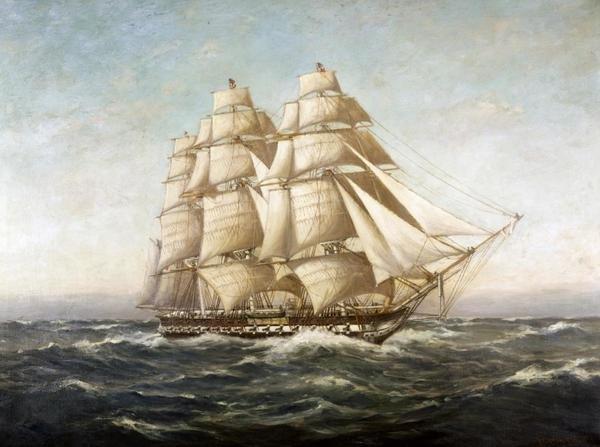 Myron Clark  USS Constitution  Art Print  Global Gallery