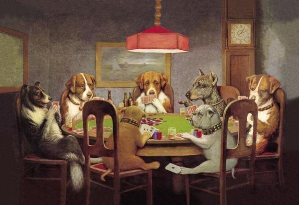 CM Coolidge  Poker Dogs A Friend in Need 1903  Art