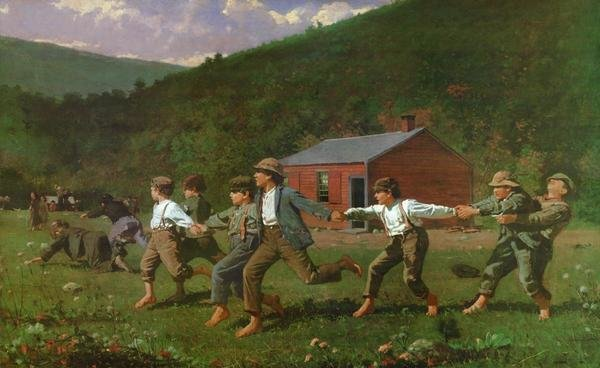 Winslow Homer - Snap The Whip - Art Print - Global Gallery