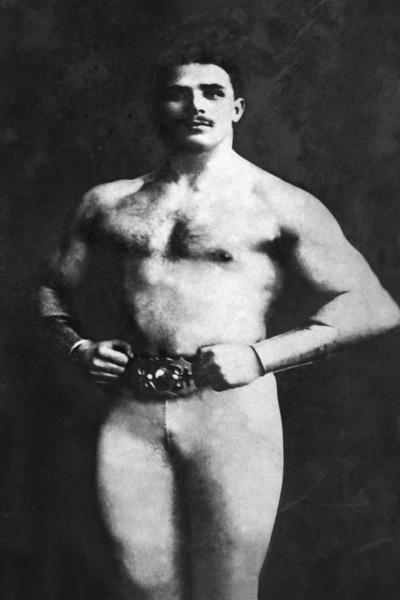 Vintage Muscle Men  Bodybuilder in Tights  Art Print