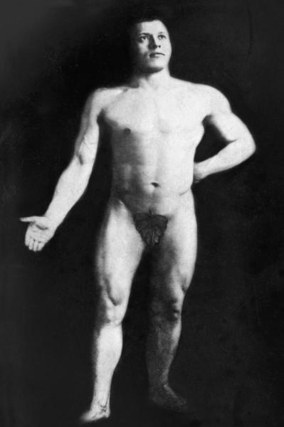 Vintage Muscle Men  Nude Bodybuilder  Art Print  Global Gallery