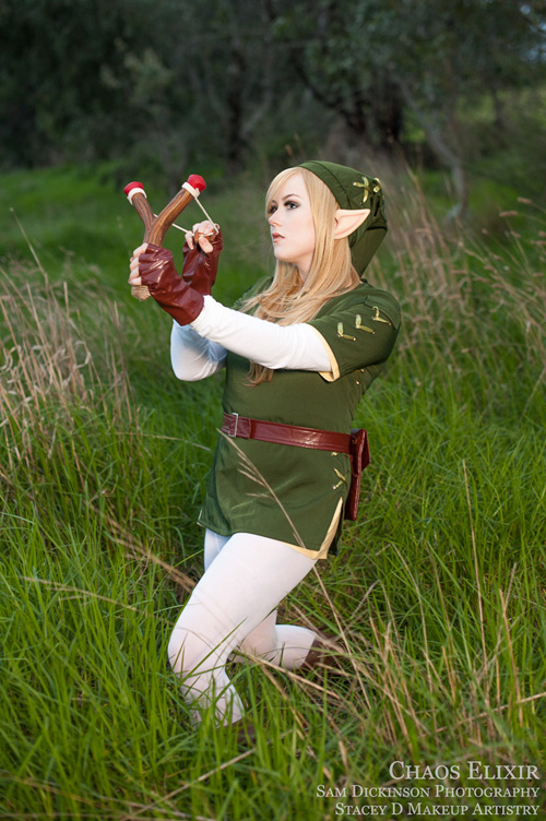 Beautiful Legend of Zelda Lady Link Cosplay
