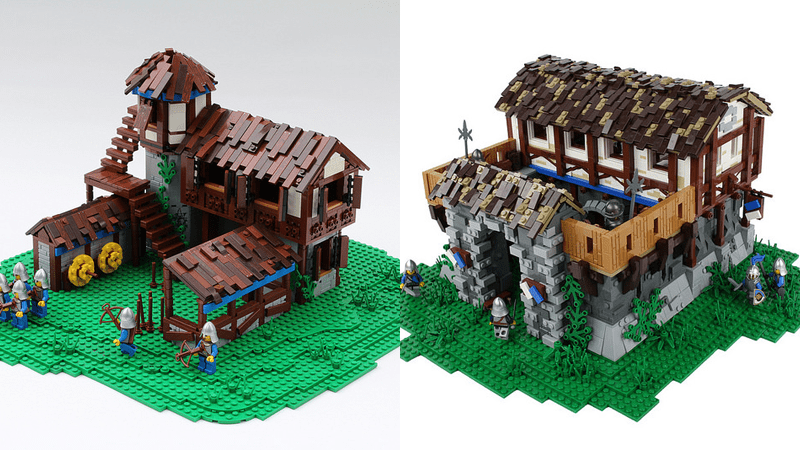 LEGO Age of Empires II Buildings; Nice Town, I'll Take It!