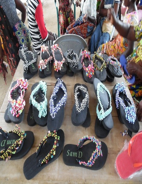 beautiful beaded sandals called