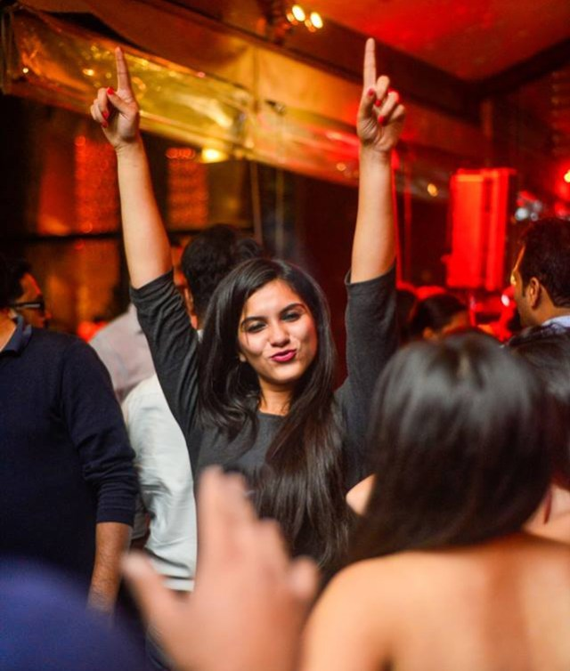 Woman partying in Shiro Restaurant in Bangalore