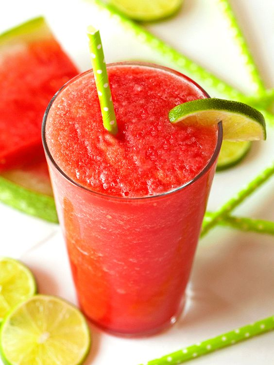 Watermelon Lime Slushy via Recipe Chart
