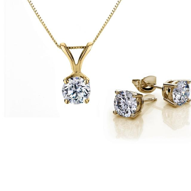 Tulcy Diamond Set in Yellow Gold