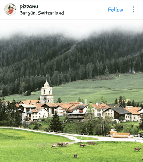 Bergün, Switzerland; pizzanu