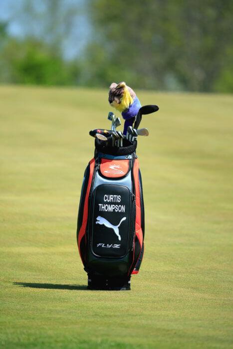Curtis Thompson golf bag
