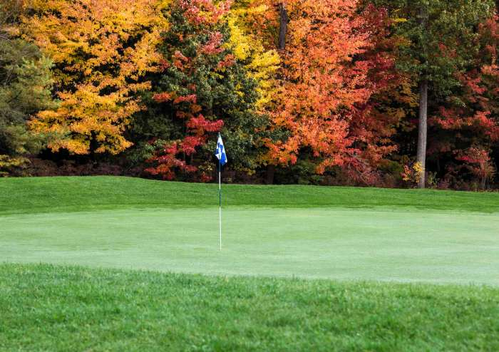 Golf, autumn foilage