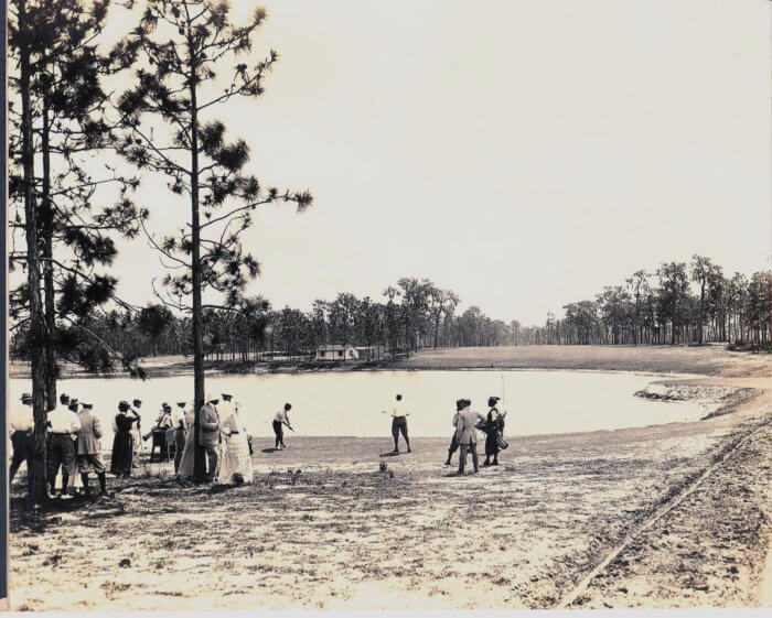 MOUNTAIN LAKE 6th tee, 1920