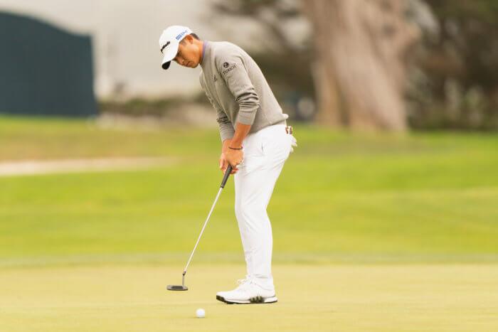 Colin Morikawa, 16th hole eagle putt