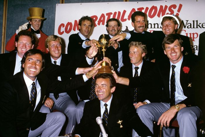 Ryder Cup team for Europe in 1987