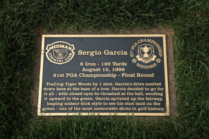 Sergio Garcia plaque