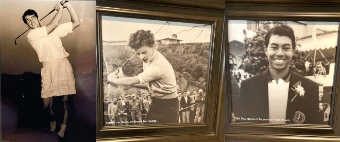 Dean Martin, Katharine Hepburn, Tiger Woods