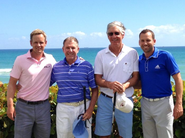 Luke Donald, Eric Gleacher, Bobby Long, Sergio Garcia at Seminole