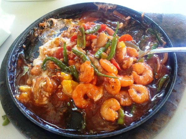Sizzling Gambas @ Chicken Ati-atihan Ozamis Photo by Carol Elep