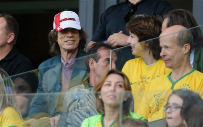 Mick Jagger and 15 year-old son, Lucas