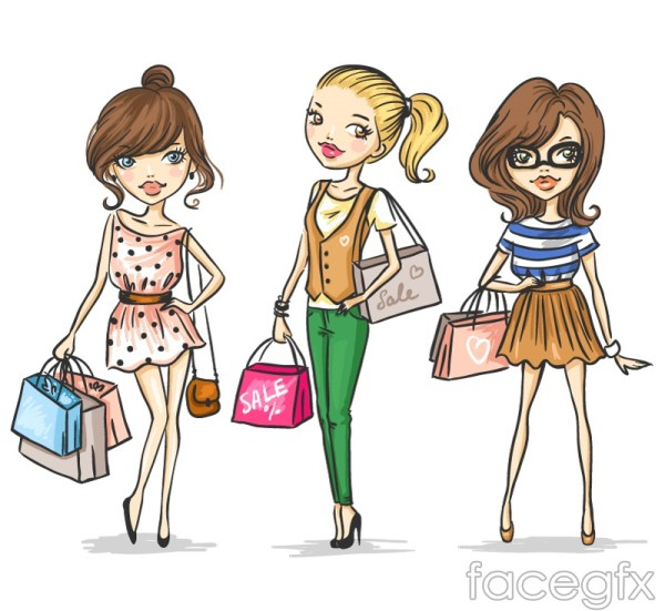 shopping-girl-3-cartoon-vector0