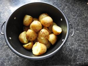 Steamed New Potatoes, Photo by PH Morton