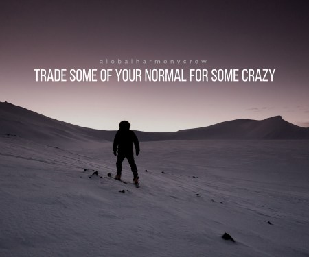trade some of your normal for some crazy