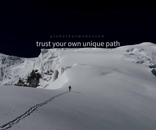 Trust your own unique path