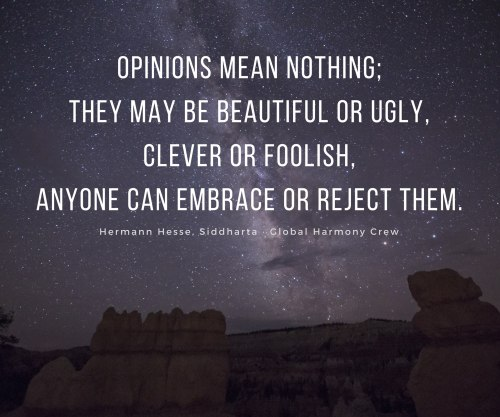 Opinions mean nothing
