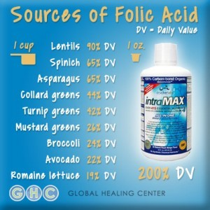Food Sources Containing Folic Acid vs. Intramax