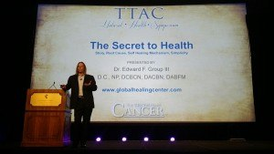 Dr. Edward Group's The Secret to Health presentation at The Truth About Cancer Symposium.