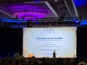 Dr. Edward Group is talking about his Secret to Health presentation at the The Truth About Cancer Symposium.
