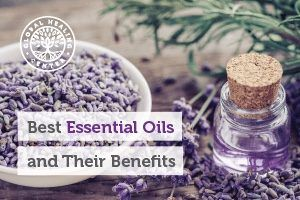 A bottle of organic lavender oil. Essential oils are used in aromatherapy, but they have many other benefits.