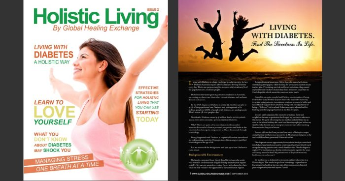 Holistic Living Magazine - Living with Diabetes