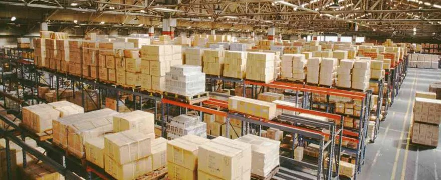 Supply warehouse  distributing a variety of products on a global scale.