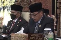 Ketua DPRD Rejang Lebong Mahdi Husein, S.H. saat mebuka sidang Paripurna Sertijab Bupati RL