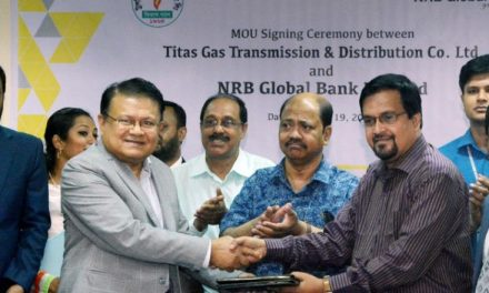MoU signed between NRB Global Bank and TITAS Gas for bill collection
