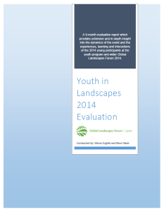 Youth in Landscapes 2014 Evaluation