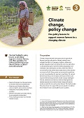 Climate change, policy change: Five policy lessons to support women farmers in a changing climate