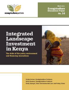Integrated Landscape Investment in Kenya