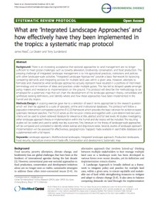 What are 'Integrated Landscape Approaches' and how effectively have they been implemented in the tropics: a systematic map protocol