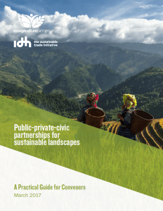 Public-private-civic partnerships for sustainable landscapes