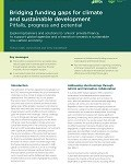 Bridging funding gaps for climate and sustainable development: Pitfalls, progress and potential