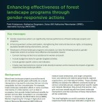 Joint infobrief set on gender equality and forest landscape restoration