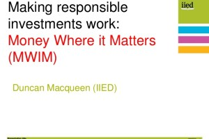 Making responsible investments work: Money Where it Matters (MWIM)