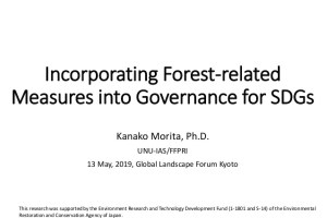 Incorporating Forest-related Measures into Governance for SDGs