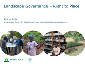 Landscape Governance – Right to Place